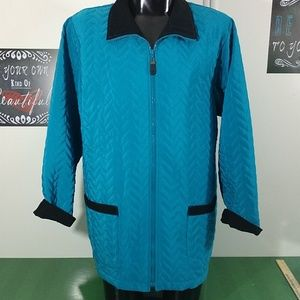 Susan Graves Quilted Jacket Large